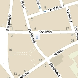 Mapa - Poštovská 1